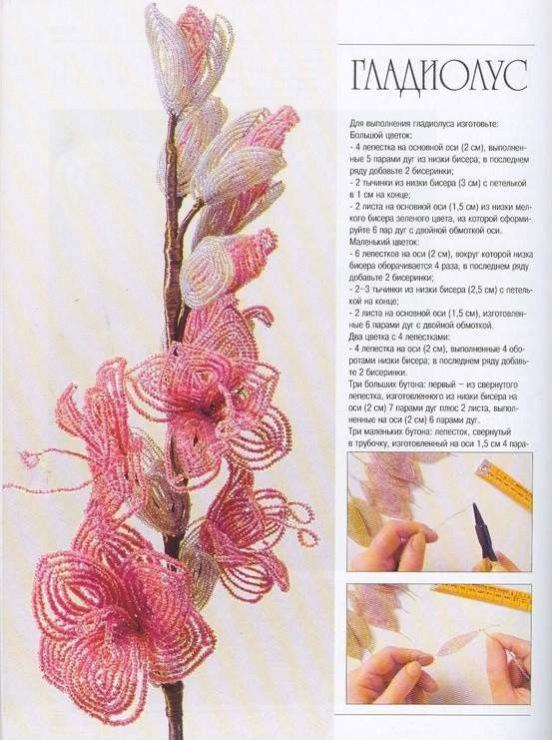 Фото схема цветов из бисера