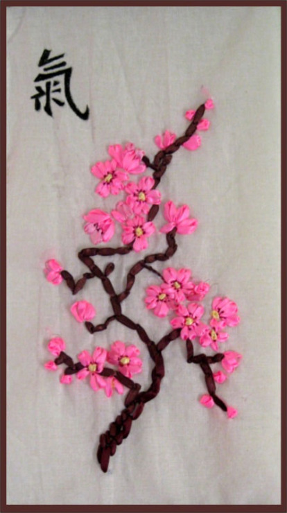 Сакура для вышивки лентами 698