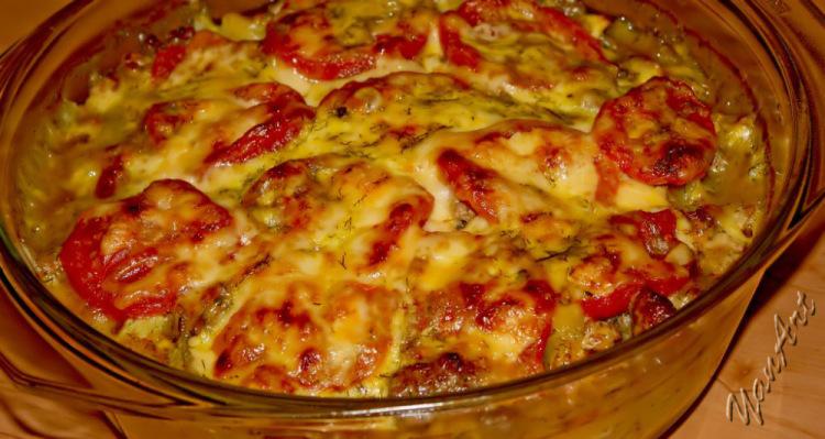 Запеканка с кабачками и помидорами в духовке рецепт пошагово в