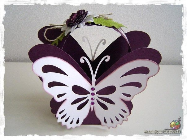 Бабочка из картона
