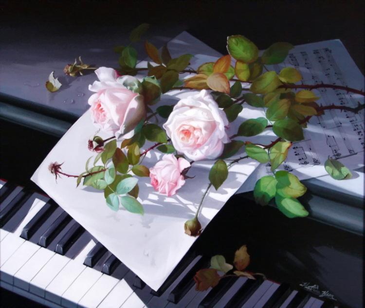 Фото пианино цветы