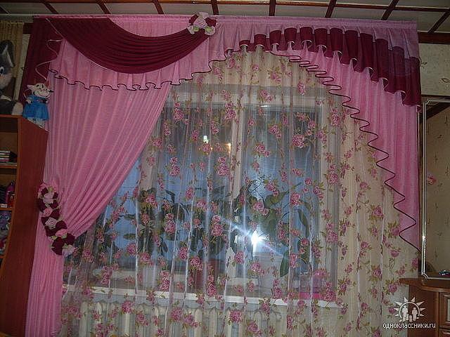 Красивые шторы для зала своими руками фото