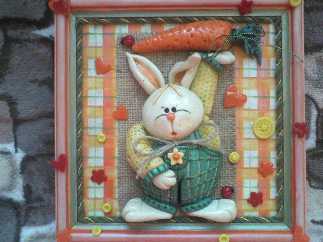 Кролик из соленого теста