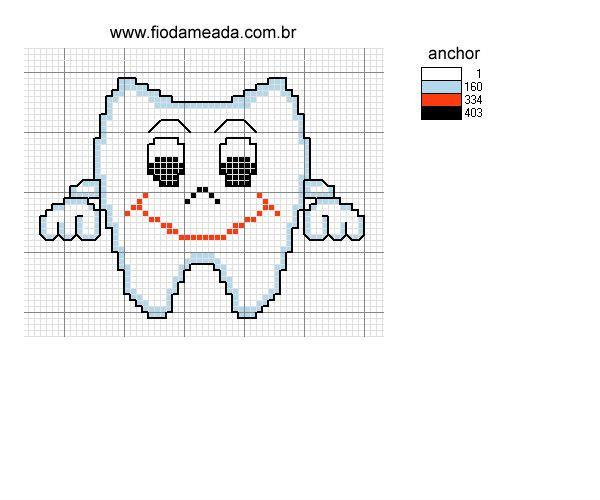 Вышивка крестом зубы 33