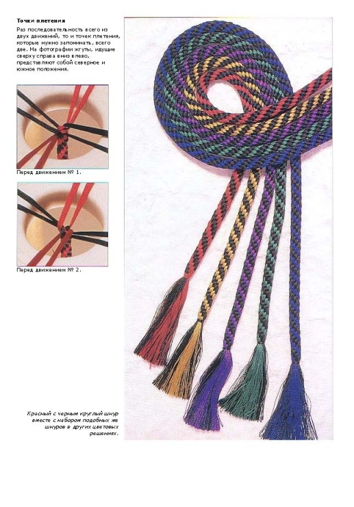 Плетение шнура кругом