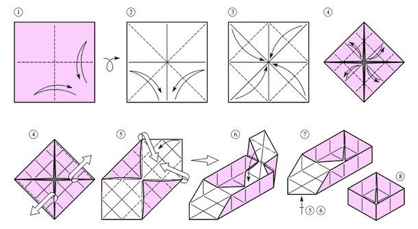 Как сделать торт из модулей оригами схема маме на день рождения
