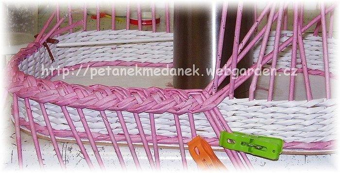 Как закончить плетение корзины из трубочек