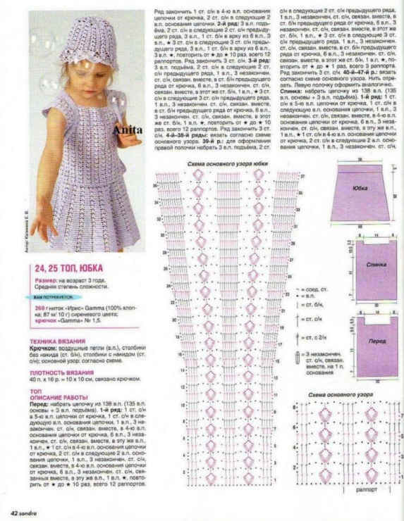 Вязание крючком на детей со схемами и описанием в фото