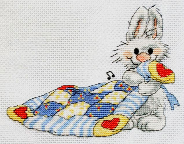 Веселые зайчата вышивка