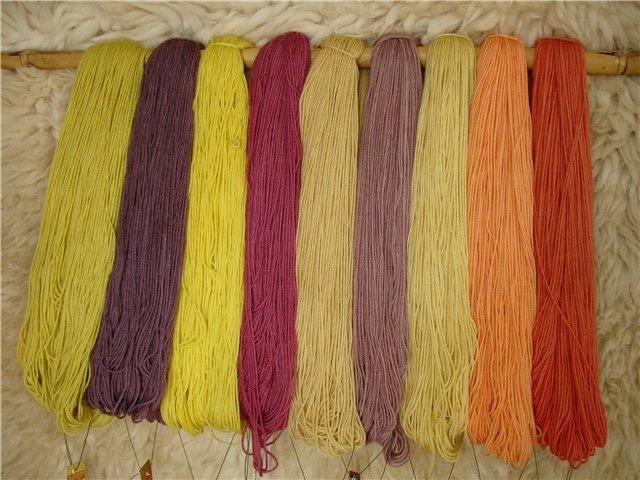 Чем покрасить нитки для вязания в домашних условиях