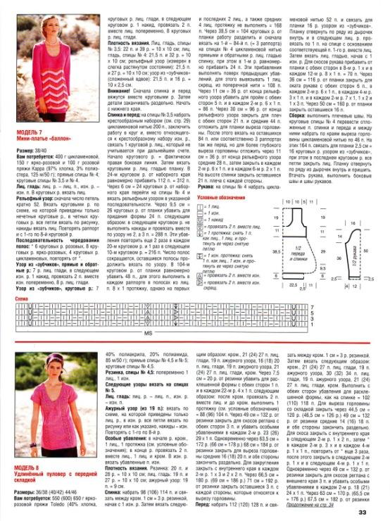 Журнал Сабрина - Описание вязания, схемы вязания 33