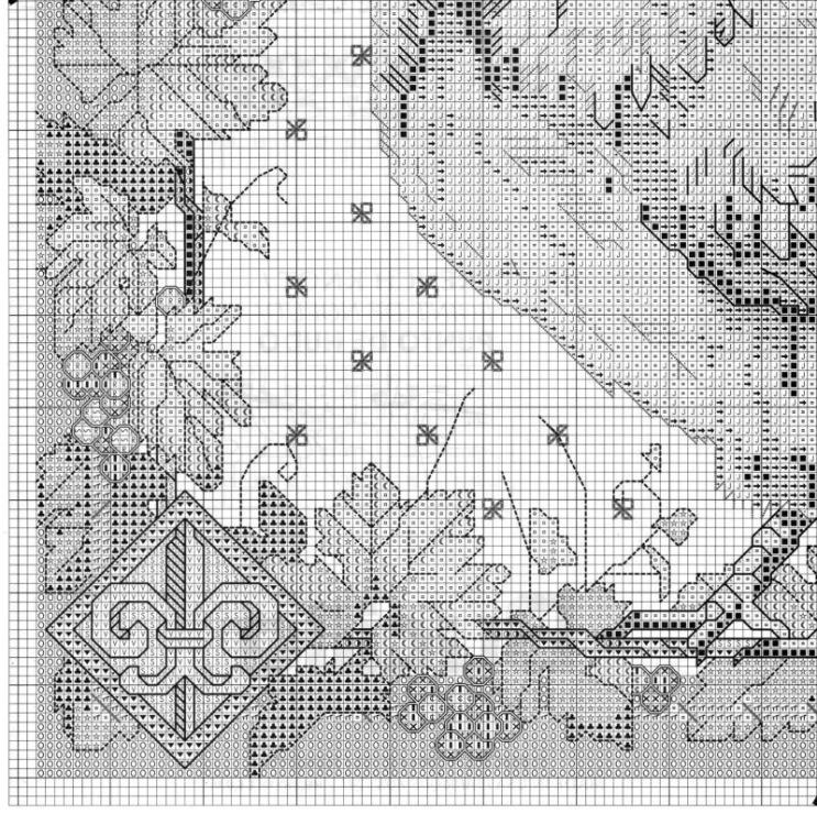 Схемы вышивок подушек петух