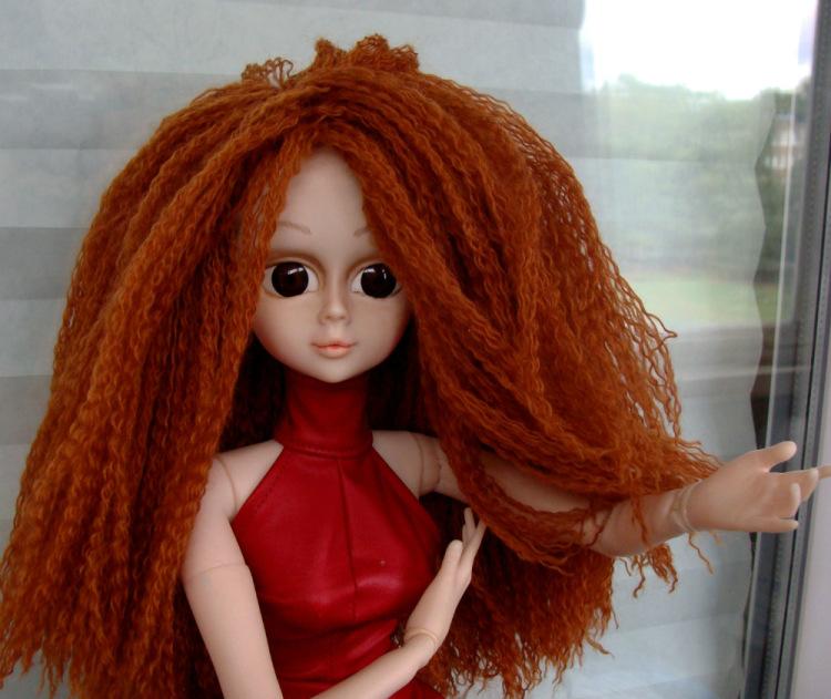Как сделать волосы большой кукле