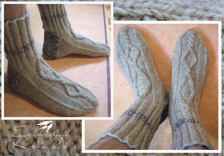 Вязание спицами для носки мужские