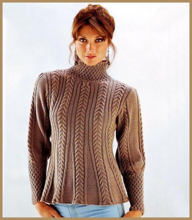 Узоры вязания свитера женского 367