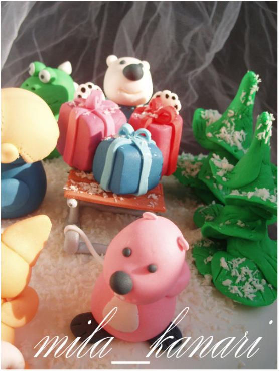 Торт с пингвиненком поророро фото