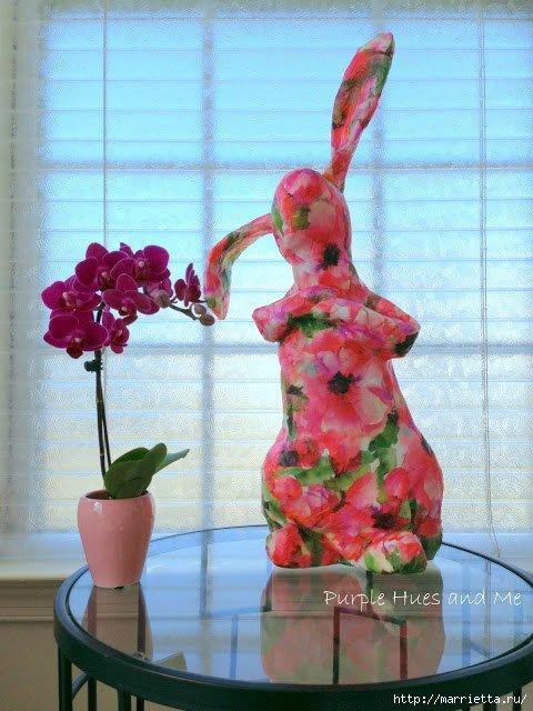 Кролик из пластиковых бутылок своими руками