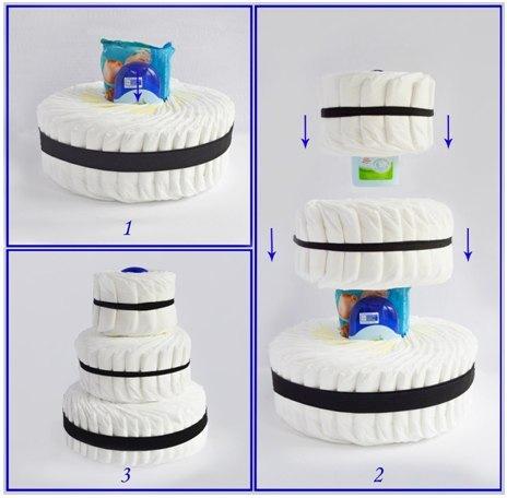 Как сделать торт из памперса