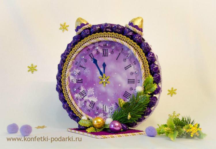 Сделай часы на новый год сам