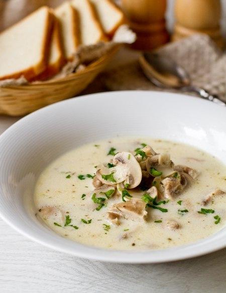 Сливочный суп шампиньонами рецепт фото