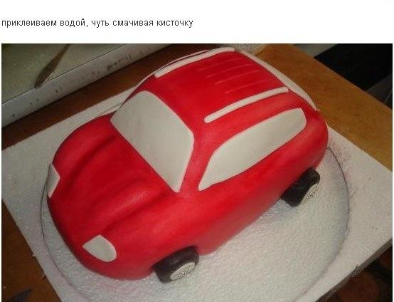 Мастика своими руками для торта машины