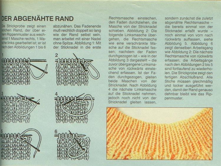 Вязание на спицах закрытие петель резинки 37