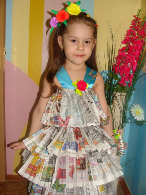 Костюм из подручного материала своими руками для девочек 13