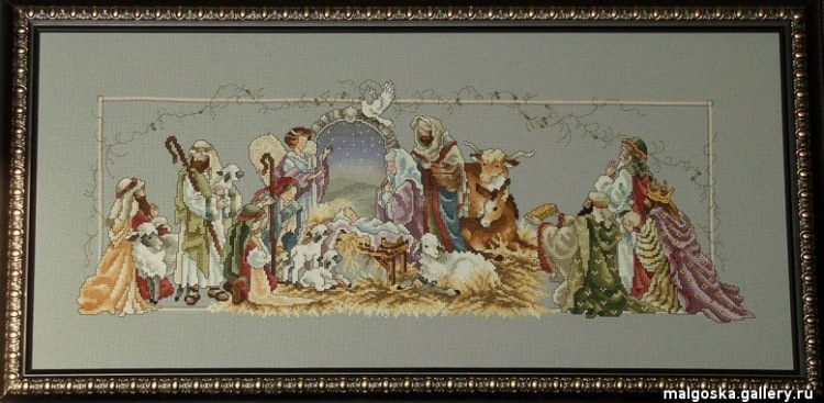 Схема o holy night nativity stoney creek | stitch house всё для.