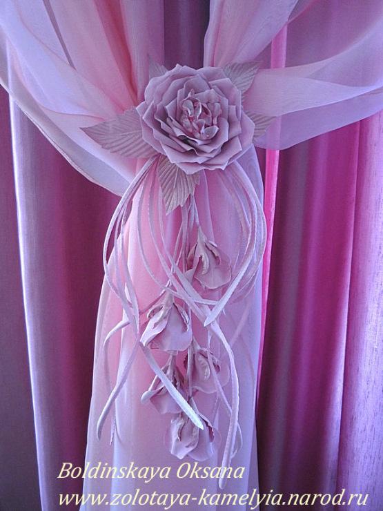 Цветы декор для штор своими руками