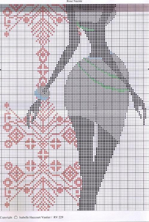 Схема вышивки крестом африканок