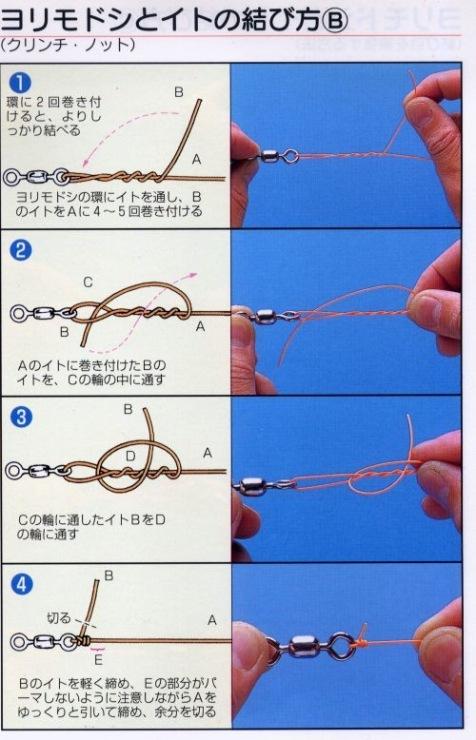 правильно привязать рыболовный шнур